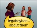 screenshot of legabey (about, regarding)